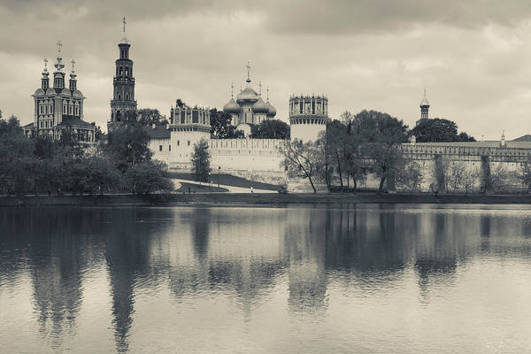 Onion Domes Photograph - Novodevichy Monastery At Late by Panoramic Images