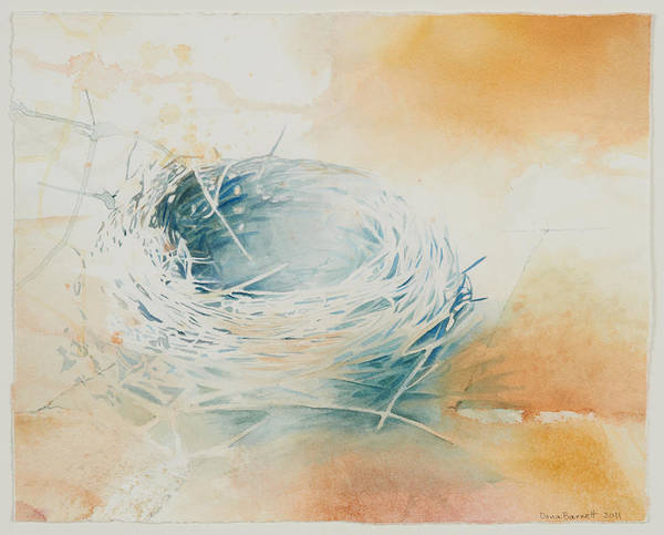 Empty Nest Wall Art - Painting - Now by Dona D Barnett