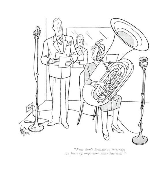 Concerts Drawing - Now Don't Hesitate To Interrupt Me For Any by George Price