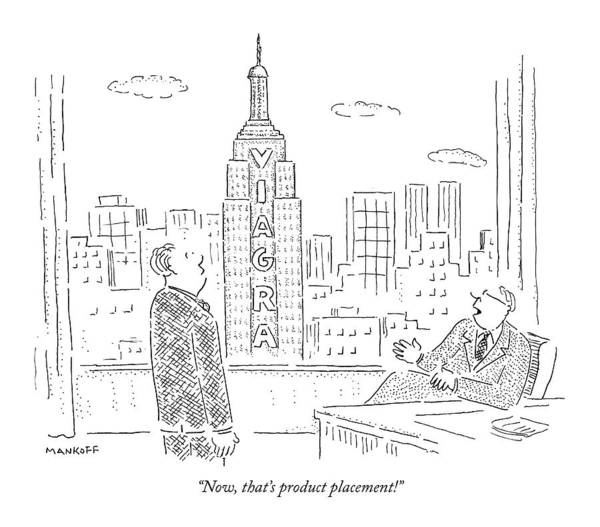 Empire Drawing - Now, That's Product Placement! by Robert Mankoff