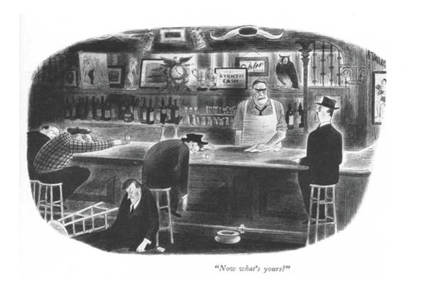 Alcoholism Drawing - Now What's Yours? by Richard Taylor