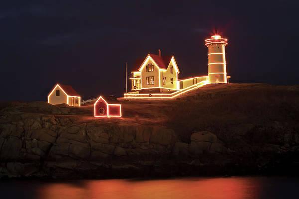 Photograph - Nubble Lighthouse-holiday Season by John Vose