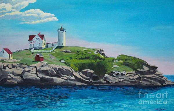 Nubble Lighthouse Sunrise Art Print