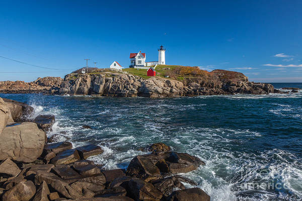 Photograph - Nubble Splash by Susan Cole Kelly