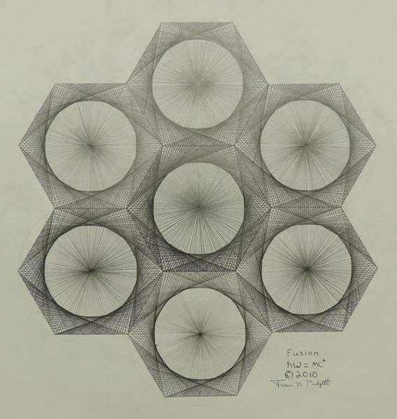 Mathematics Drawing - Nuclear Fusion by Jason Padgett