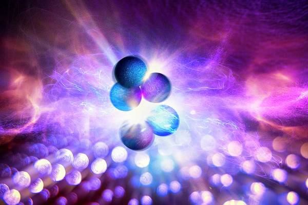 Subatomic Particle Photograph - Nuclear Fusion by Richard Kail
