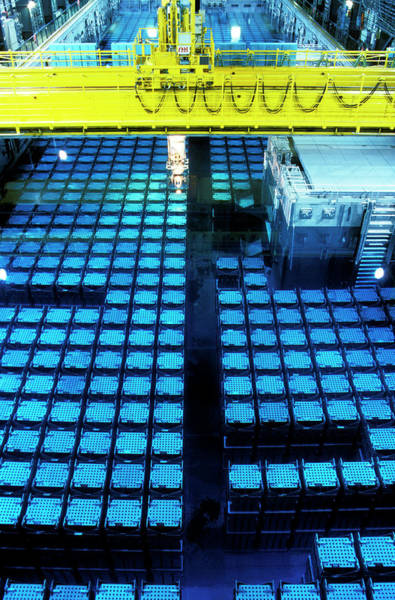 Moving Water Photograph - Nuclear Waste Reprocessing by Patrick Landmann/science Photo Library