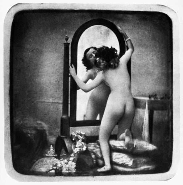 Photograph - Nude And Mirror, C1850 by Granger