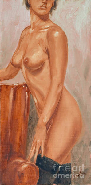Painting - Nude And Red Chair by John Silver