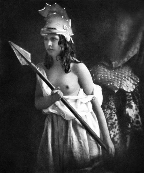 Photograph - Nude As Ancient Warrior by Granger