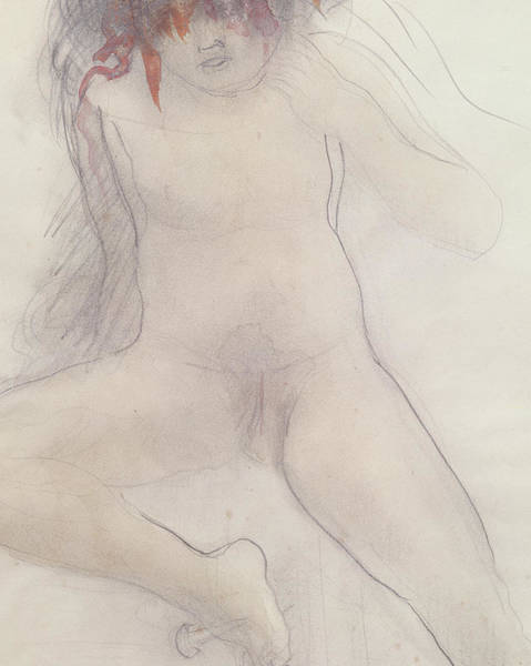 Nudity Drawing - Nude by Auguste Rodin