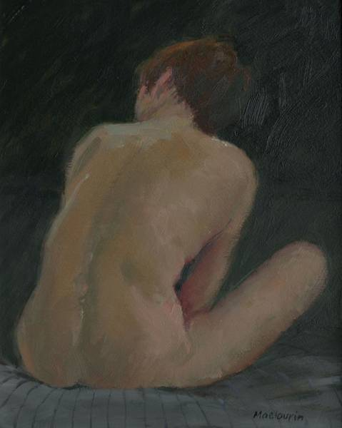 Intimate Portrait Wall Art - Painting - Nude Back by Pat Maclaurin