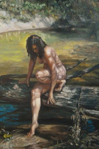 Painting - Nude By The Kickapoo by Jeff Dickson