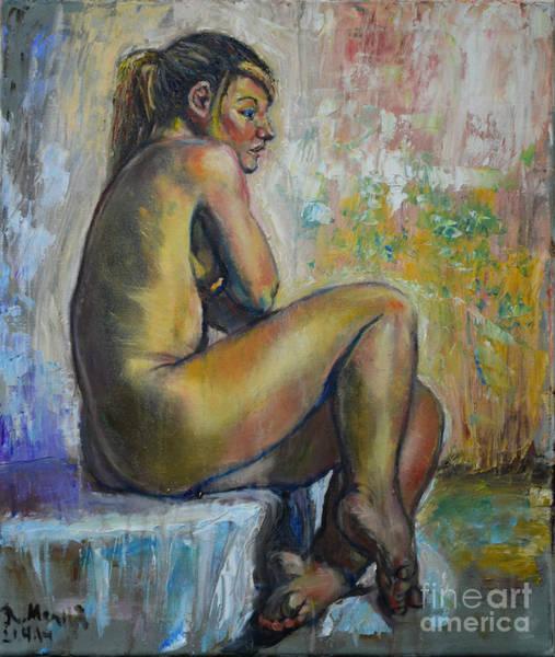 Painting - Nude Eva 1 by Raija Merila