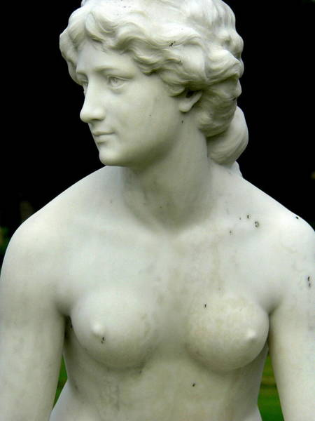 Photograph - Nude Female Statue by Jeff Lowe