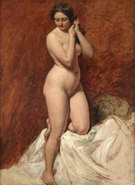 Backdrop Painting - Nude From The Front by William Etty