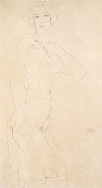 Beautiful Girl Drawing - Nude Girl by Egon Schiele