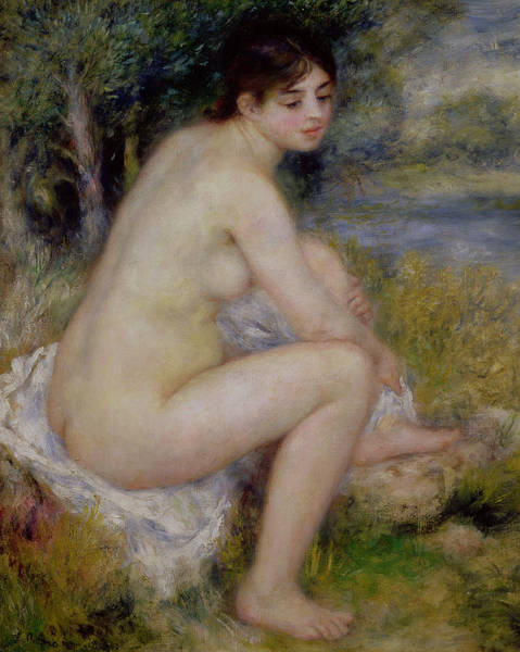 Renoir Wall Art - Painting - Nude In A Landscape by Pierre Auguste Renoir