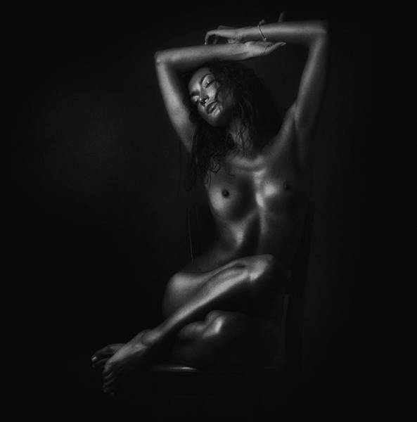 Sensuality Wall Art - Photograph - Nude In Black by Zachar Rise