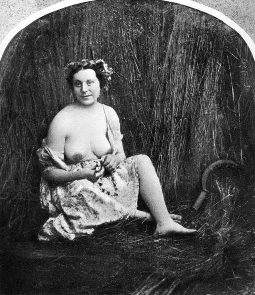 Photograph - Nude In Field, C1850 by Granger