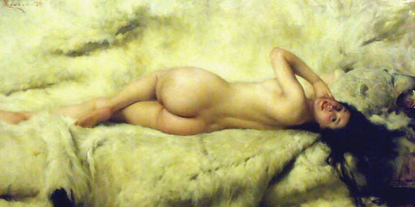 Old Masters Digital Art - Nude Lying by Giacomo Grosso