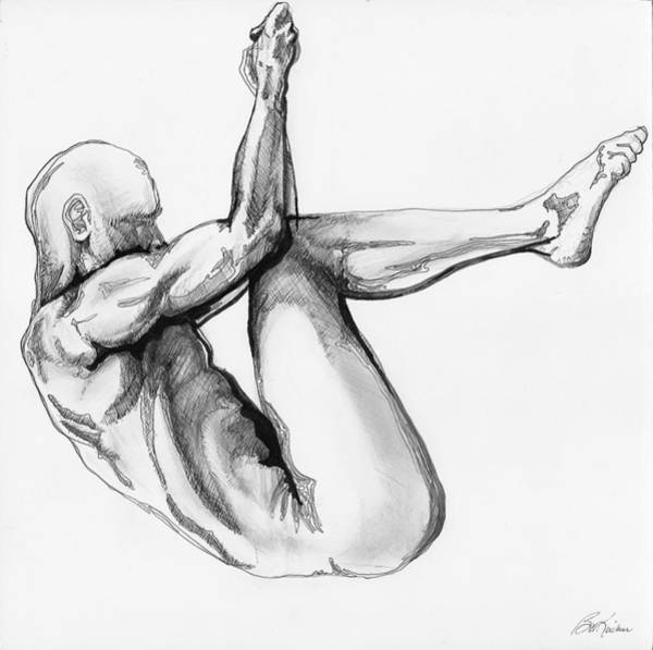 Digital Art - Nude Male 1 by Brian Kirchner
