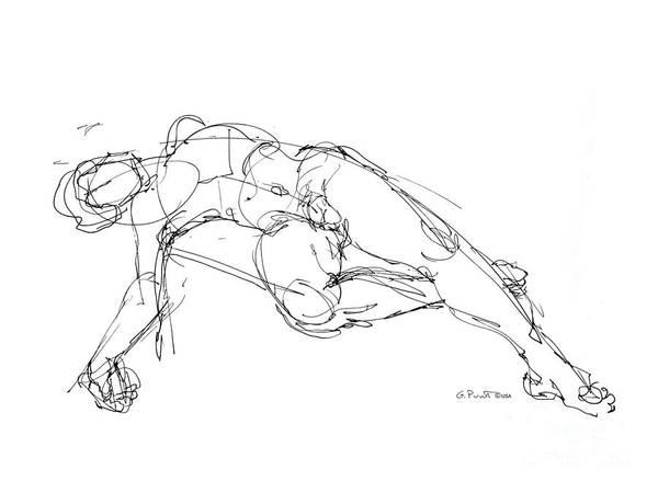 Nude Male Drawings 1 Art Print