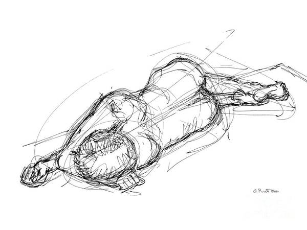 Nude Male Sketches 4 Art Print
