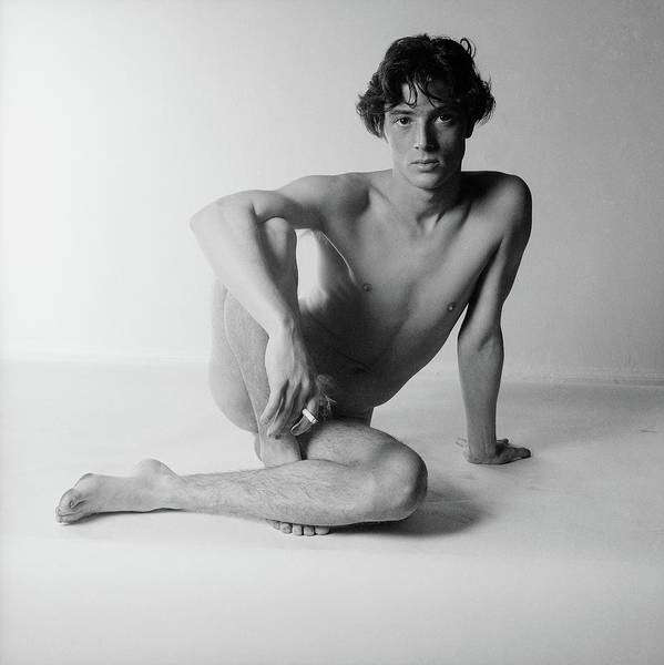 Photograph - Nude Man Sitting by Horst P. Horst
