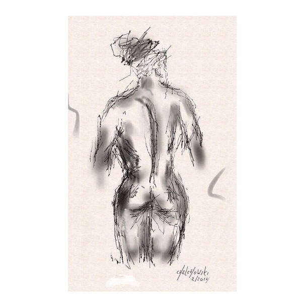 Drawing - Nude by Miroslaw  Chelchowski