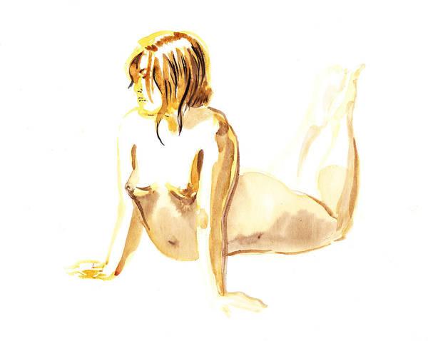 Wall Art - Painting - Nude Model Gesture Iv by Irina Sztukowski