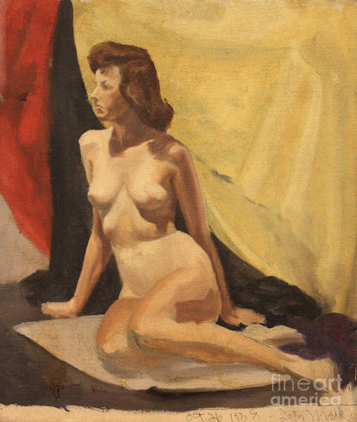 Painting - Nude On A Rug by Art By Tolpo Collection