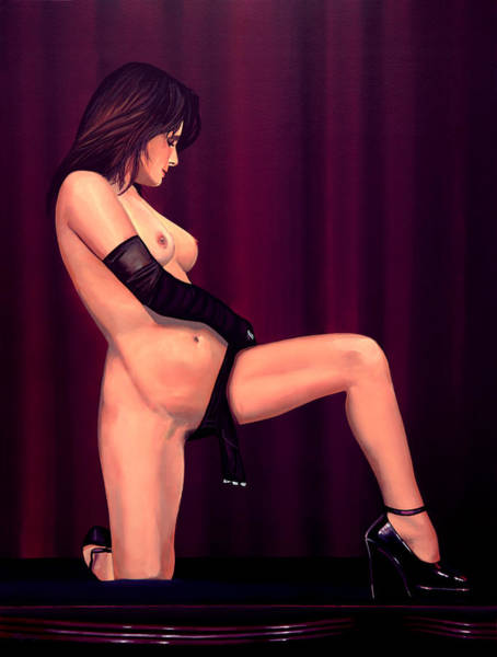 Naked Woman Painting - Nude Stage Beauty by Paul Meijering