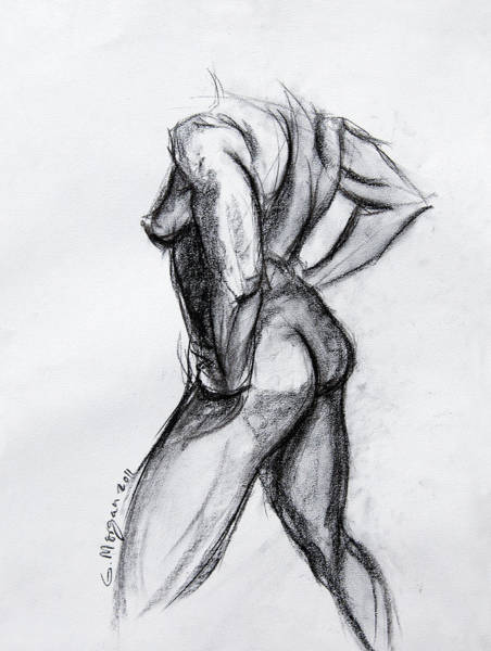 Spontaneous Drawing - Nude Study by Garfield Morgan