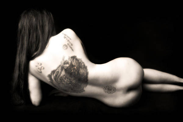 Photograph - Nude Tattoos by Jennifer Wright