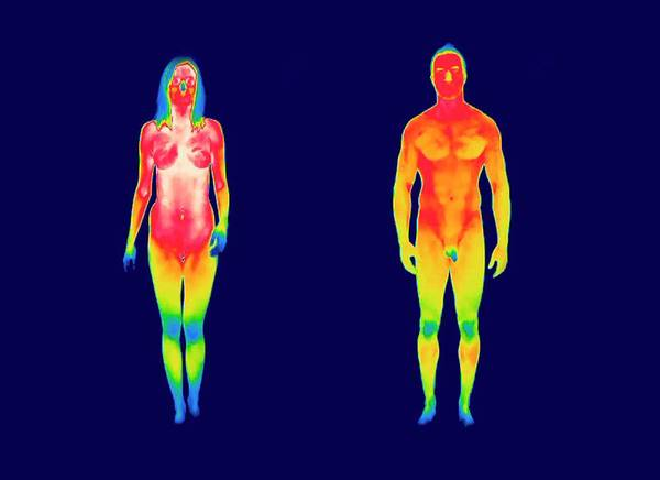 Infrared Radiation Photograph - Nude Woman And Man by Thierry Berrod, Mona Lisa Production