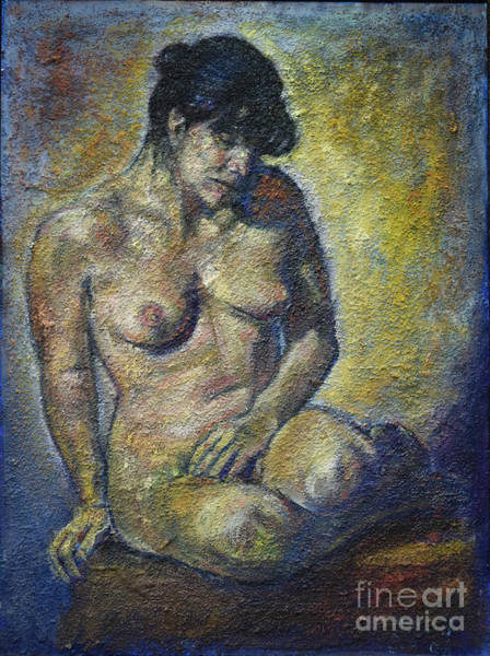 Sad - Nude Woman Art Print