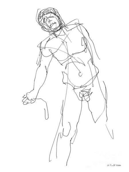 Nude_male_drawing_30 Art Print