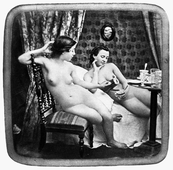 Photograph - Nudes Having Tea, C1850 by Granger