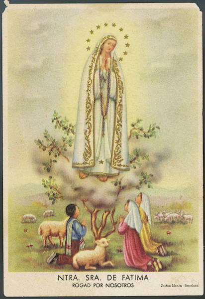 Wall Art - Drawing - Nuestra Senora De Fatima          Date by Mary Evans Picture Library