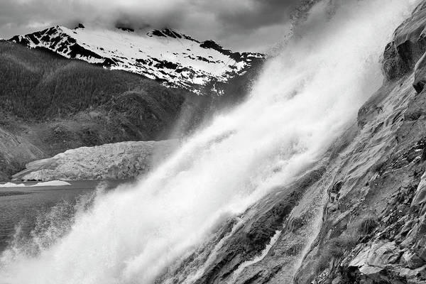 Juneau Photograph - Nugget Falls At Mendenhall Glacier by Richard Cummins