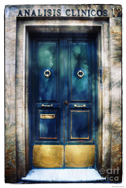 Mail Slot Photograph - Number 12 - The Blue Door by Mary Machare