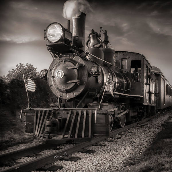 Photograph - Number 4 Narrow Gauge Railroad by Bob Orsillo