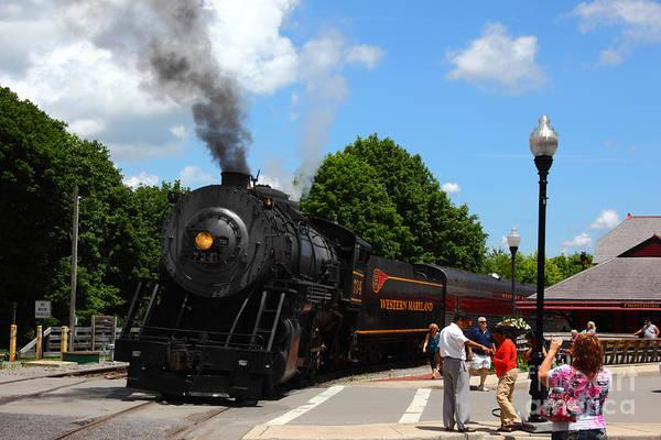 Photograph - Number 734 At Frostburg Station by James Brunker