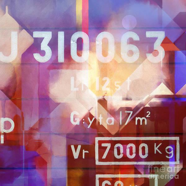 Painting - Numbers by Lutz Baar