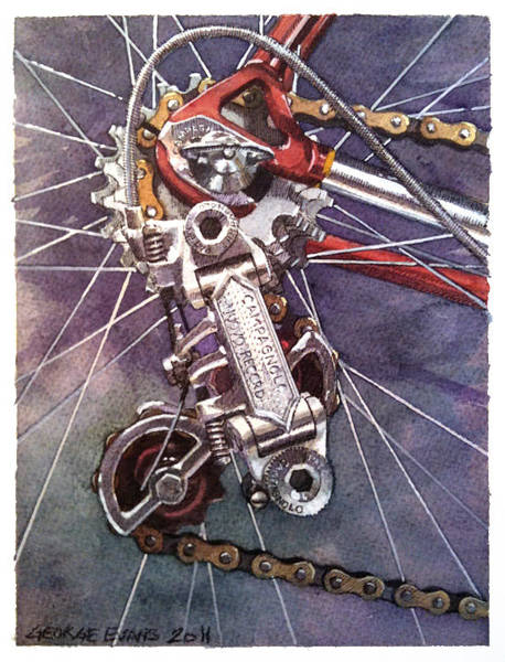 Bike Racing Painting - Nuovo by George Evans