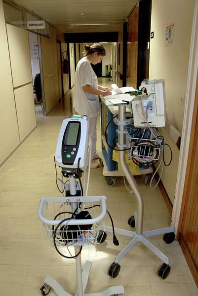 Wall Art - Photograph - Nurse And Hospital Equipment by Aj Photo/science Photo Library