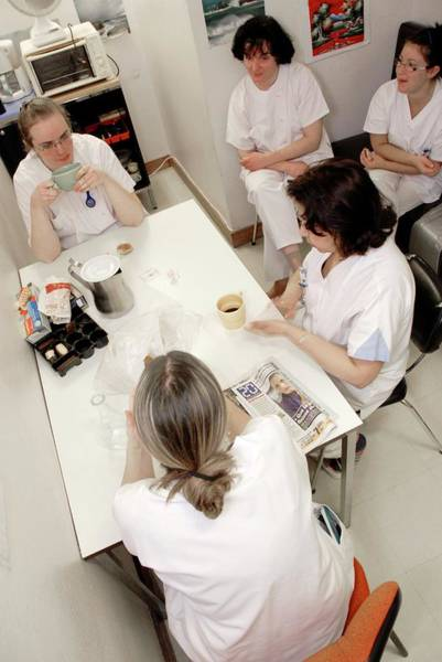 Wall Art - Photograph - Nurse Rest Room by Aj Photo/science Photo Library