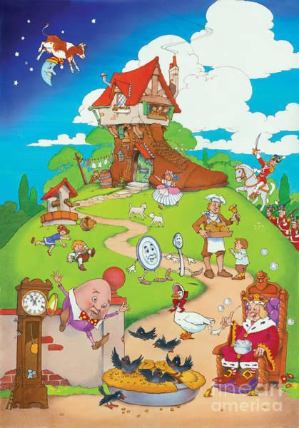 Egg Digital Art - Nursery Rhymes by MGL Meiklejohn Graphics Licensing