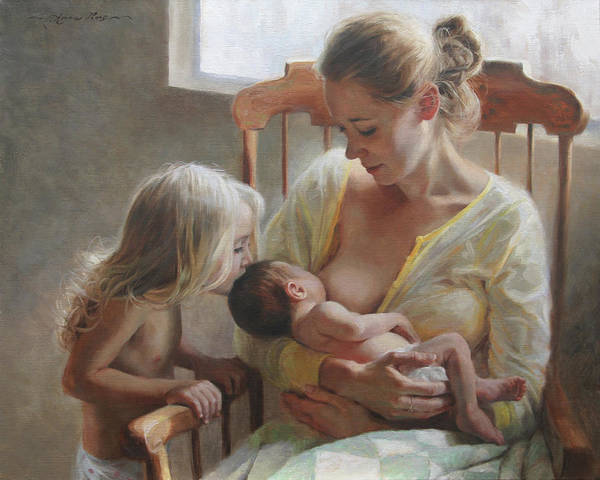 Baby Painting - Nurturer by Anna Rose Bain